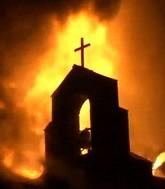 Лишь горящая церковь светит