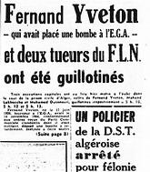 Фернан Ивтон – мученик алжирской свободы