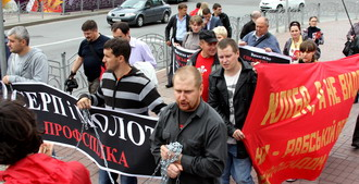 Euro 2012 Constructions Workers Protest (English)